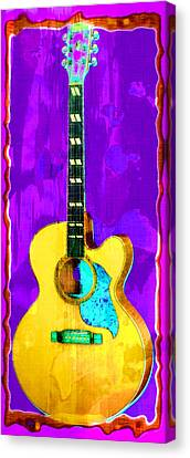 Acoustic Guitar Abstract Canvas Print by David G Paul