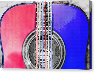 Acoustic Guitar - Americana Canvas Print by Steve Ohlsen