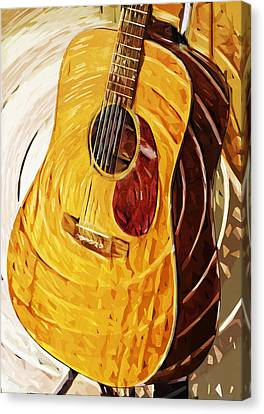 Acoustic On Stand Canvas Print by Tilly Williams