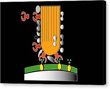 Acrosome Reaction, Artwork Canvas Print by Francis Leroy, Biocosmos