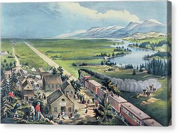 Across The Continent Canvas Print by Currier and Ives
