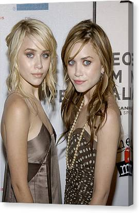 Actresses Mary Kate And Ashley Olsen Canvas Print by Everett