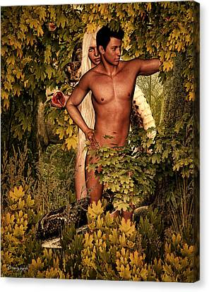 Adam's Pre-fall Canvas Print by Lourry Legarde