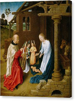 Adoration Of The Christ Child  Canvas Print by Master of San Ildefonso