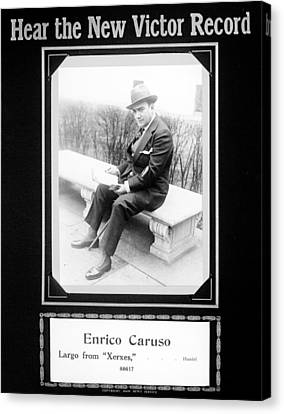 Advertisement For Victor Records Canvas Print by Everett