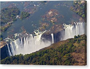 Aerial Of Victoria Falls, Zambia, Africa Canvas Print by Yvette Cardozo
