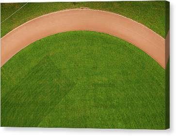 Aerial View Of Running Track Canvas Print by Ivo Noppen