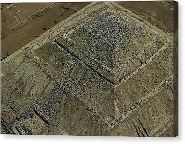 Aerial View Over The Pyramid Of The Sun Canvas Print by Kenneth Garrett