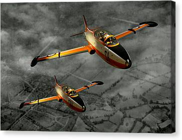 Aermacchi In Flight Canvas Print by Steven Agius