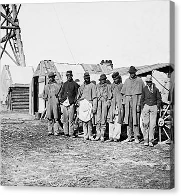 African-american Contrabands Dressed Canvas Print by Everett