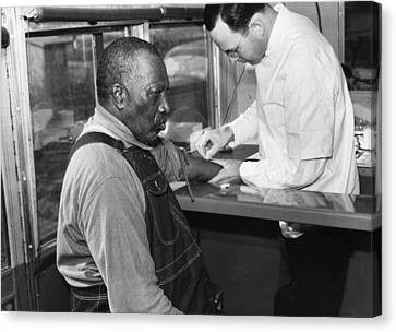 African American Patient Receiving Canvas Print by Everett