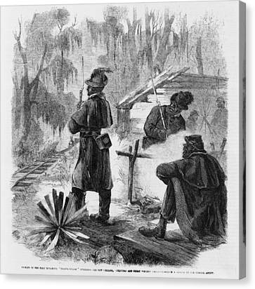 African American Pickets Of The First Canvas Print by Everett