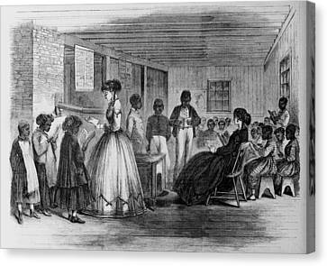 African American Students Canvas Print by Everett