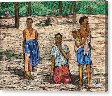 African Children Canvas Print by Reb Frost