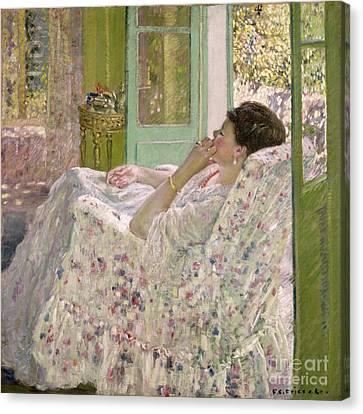Afternoon - Yellow Room Canvas Print by Frederick Carl Frieseke