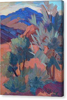 Afternoon Light - Santa Rosa Mountains Canvas Print by Diane McClary