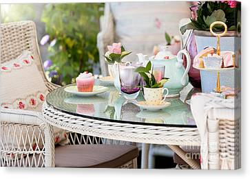 Afternoon Tea And Cakes Canvas Print by Simon Bratt Photography LRPS