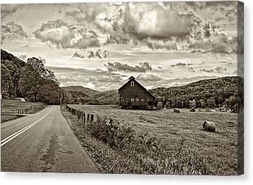 Ah...west Virginia Sepia Canvas Print by Steve Harrington