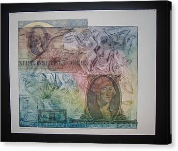 Aig The Dollar And George Compared Canvas Print by John  Schwind