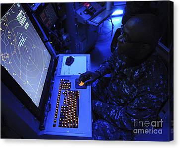 Air-traffic Controller Tracks Incoming Canvas Print by Stocktrek Images