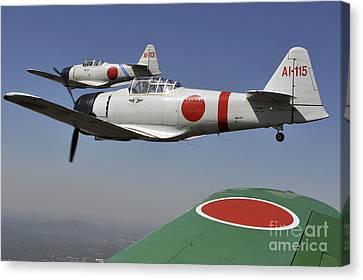 Aircraft From The Tora, Tora, Tora Canvas Print by Stocktrek Images