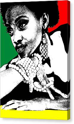 Aisha Jamaica Canvas Print by Naxart Studio