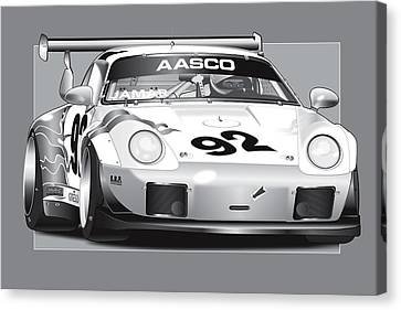 Aj Turbo Canvas Print by Alain Jamar