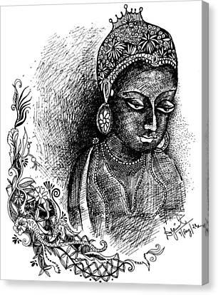 Ajanta Canvas Print by Daljeet  Kaur