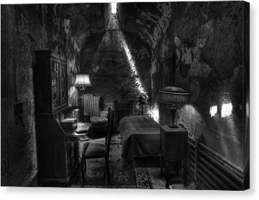 Al Capone's Cell IIi - Easton State - Scarface - The Syndicate - The Chicago Outfit   Canvas Print by Lee Dos Santos