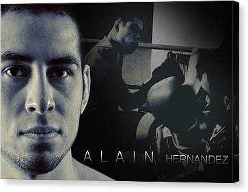 Alain Hernandez Mixed Martial Artist Canvas Print by Lisa Knechtel