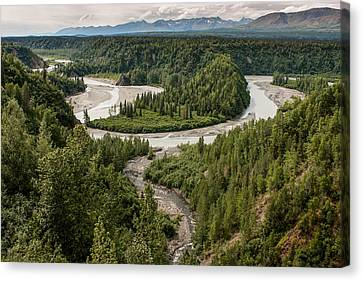 Alaska Railroad Two Canvas Print by Josh Whalen
