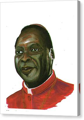 Albert Ndongmo Canvas Print by Emmanuel Baliyanga