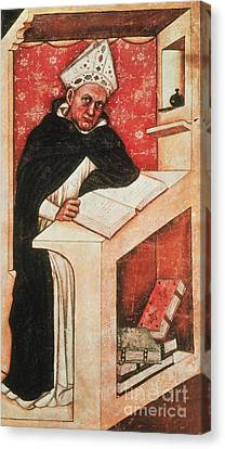 Albertus Magnus, Medieval Philosopher Canvas Print by Photo Researchers