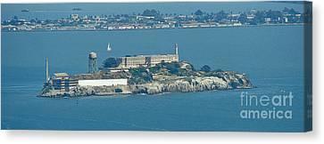 Alcatraz In April Canvas Print by Suze Taylor