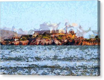 Alcatraz Island In San Francisco California . 7d14031 Canvas Print by Wingsdomain Art and Photography