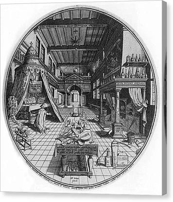 Alchemists Laboratory, 1595 Canvas Print by Science Source
