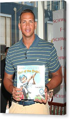 Alex Rodriguez At In-store Appearance Canvas Print by Everett