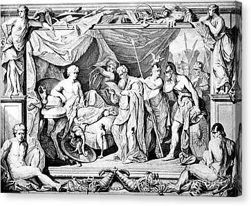 Alexander The Great And His Physician Canvas Print by Photo Researchers