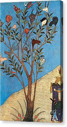 Alexander The Great At The Oracular Tree Canvas Print by Photo Researchers