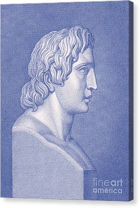 Alexander The Great, Greek King Canvas Print by Photo Researchers