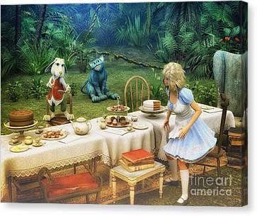 Alice In Wonderland Canvas Print by Jutta Maria Pusl