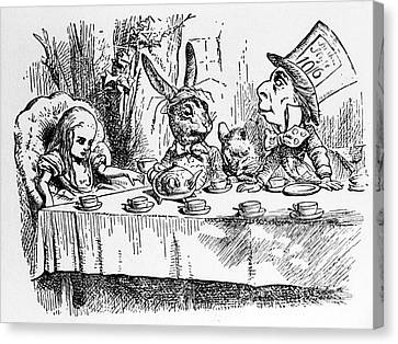 Alice In Wonderland Canvas Print by Photo Researchers, Inc.