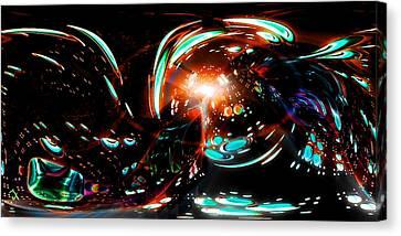 Alien Cave 2 Canvas Print by Adam Vance