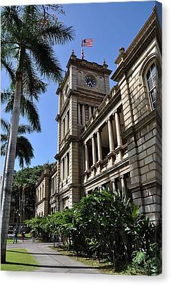 Aliiolani Hale 1 Canvas Print by Donald Sauret