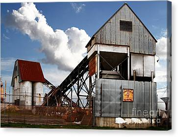 Alive And Well In America . The Old Industrial Sand Plant In Berkeley California . 7d13952 Canvas Print by Wingsdomain Art and Photography