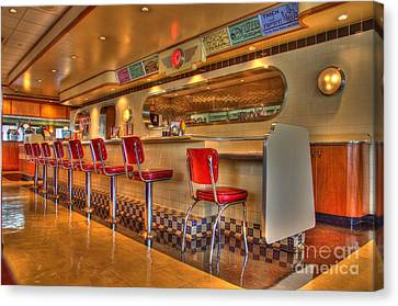 All American Diner 2 Canvas Print by Bob Christopher