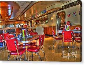All American Diner 5 Canvas Print by Bob Christopher