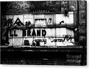 All Brand Canvas Print by John Farnan