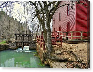 Alley Spring Mill 34 Canvas Print by Marty Koch