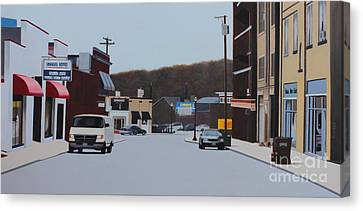 Allston And Madison Canvas Print by Dan Lockaby